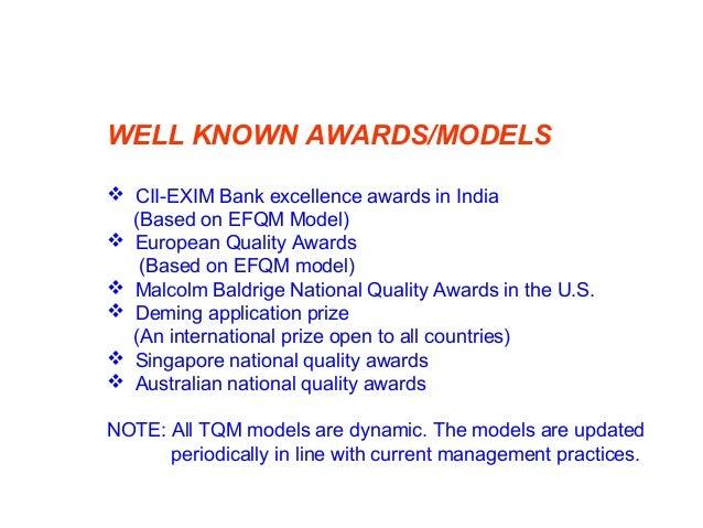 TQM AWARDS/MODELS