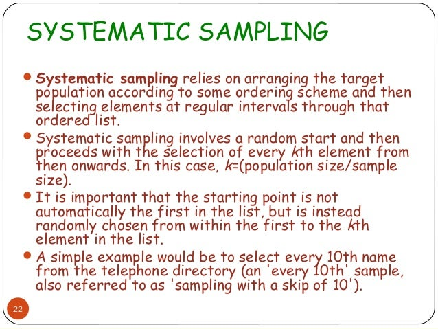 Image result for systemetic sampling