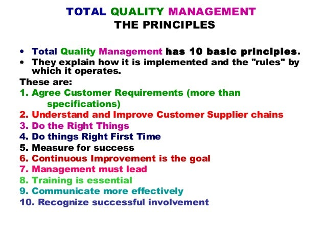 Total quality management frameworks (powerpoint).
