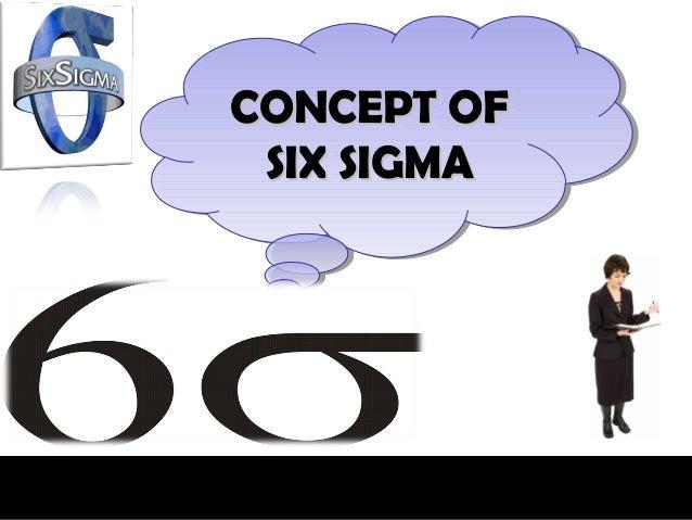 CONCEPT OFCONCEPT OF SIX SIGMA SIX SIGMA