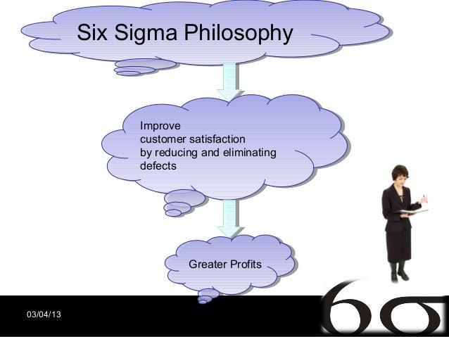Six Sigma Philosophy           Six Sigma Philosophy                Improve                 Improve                customer...