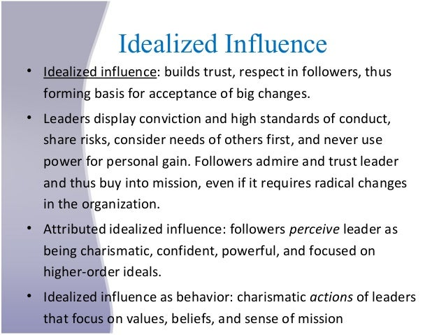 the influence of an idealized state Leadership and influence page i  manager fran tinsley ask for outside help mrs tinsley phoned the duty officer at the state eoc, ellen burgess mrs tinsley .