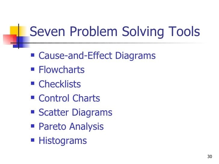problem solving quality tools pdf free