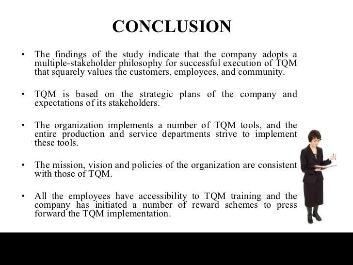 tqm final ppt conclusion