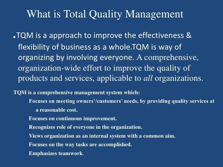 TQM (Total Quality Management) Slide 3