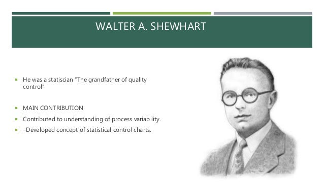 walter a shewhart Dr deming was the towering intellect and leading personality of the quality revolution.