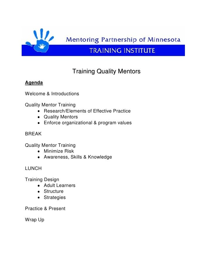 Training Quality MentorsAgendaWelcome & IntroductionsQuality Mentor Training         Research/Elements of Effective Practi...