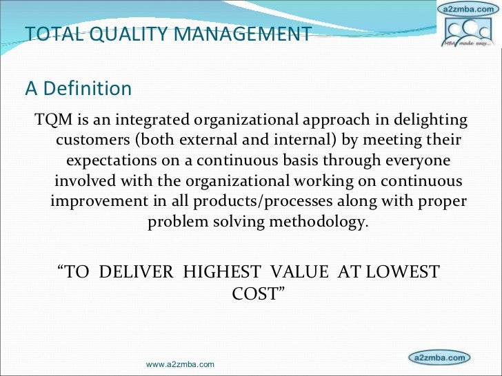 tqm in institution Quality management in higher education  the higher education sector at both government and institution level  m total quality management in higher education.