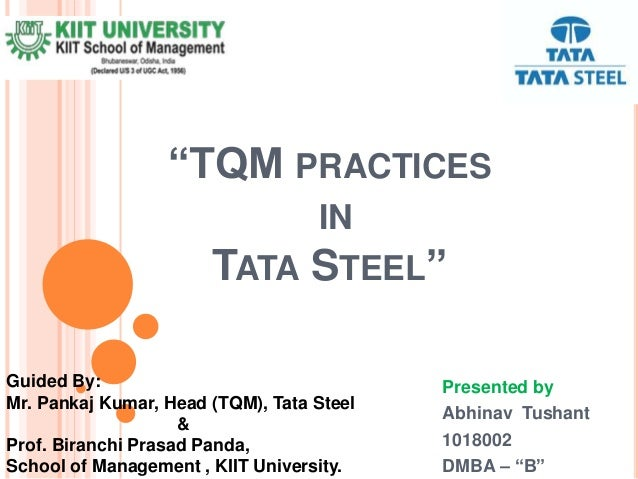 tqm practices in tata steel