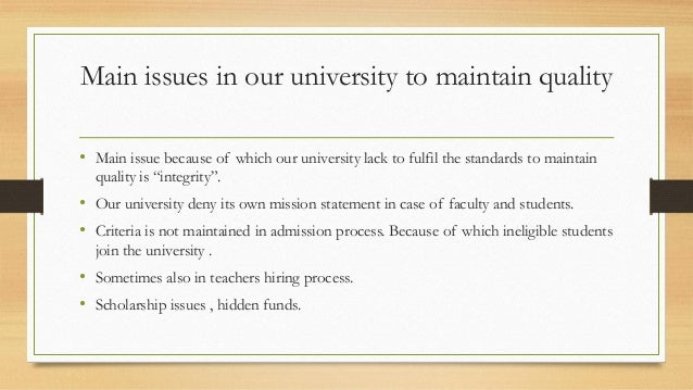 tqm in universities Explains how lecturers of universities implement total quality management  processes and concepts in their classrooms and highlights the relationship  between.