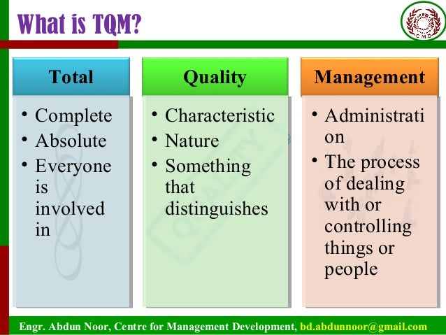 qcc in total quality management Seven old qc tools, 5s practices, spc, pdca cycle, qcc  benchmarking   and quality award iso 9000 series of standards, implementation of tqm, self-.