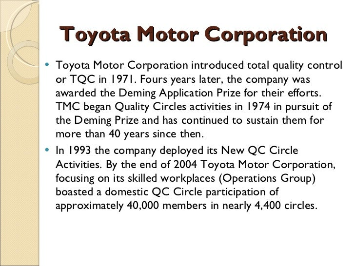 Total quality management toyota