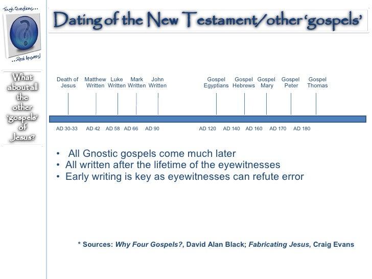 dating gospels