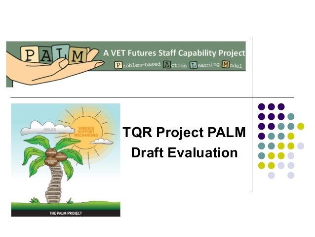 TQR Project PALM Draft Evaluation
