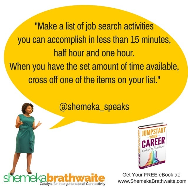 a List of Job Search Activities