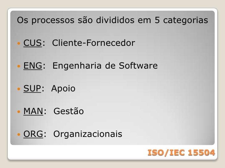 Define um conjunto universal de processos fundamentais para engenharia de software e um roteiro racional para avaliação e ...