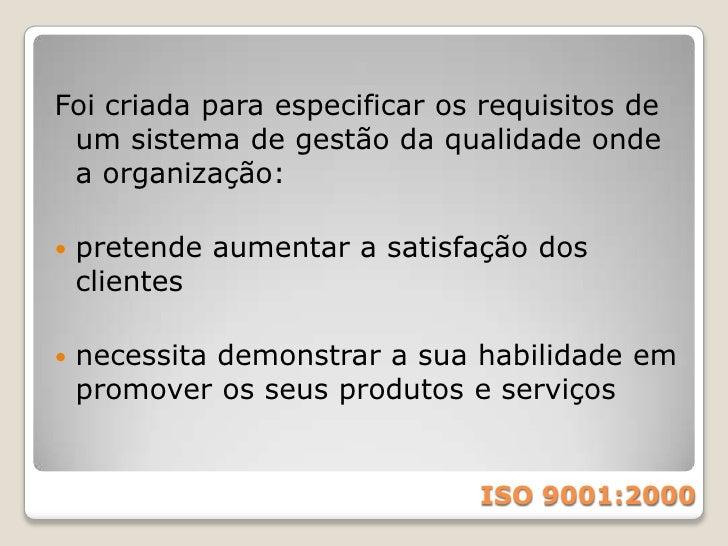 ISO<br />Organização Internacional para Padronização (International Organization for Standardization - ISO) é uma entidade...