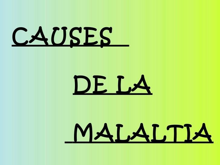 CAUSES  DE LA MALALTIA