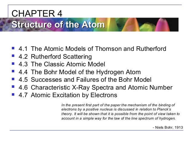 an analysis of the bohr atomic model in atomic physics