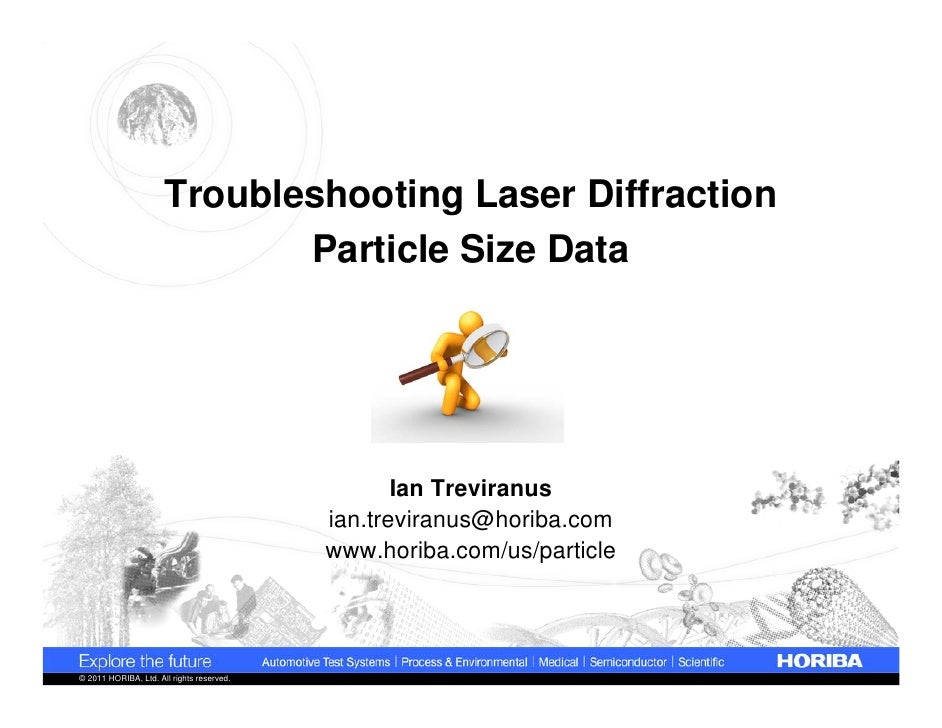 Troubleshooting Laser Diffraction                             Particle Size Data                                          ...