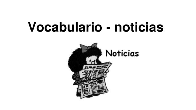 Vocabulario - noticias