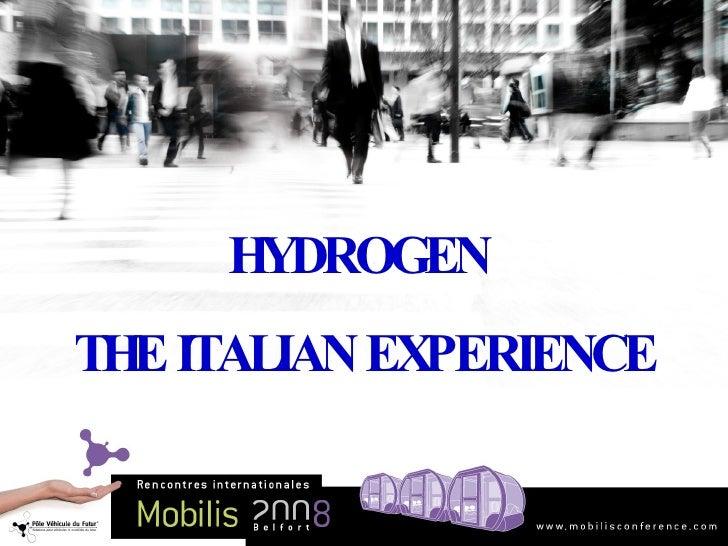 HYDROGEN  THE ITALIAN EXPERIENCE
