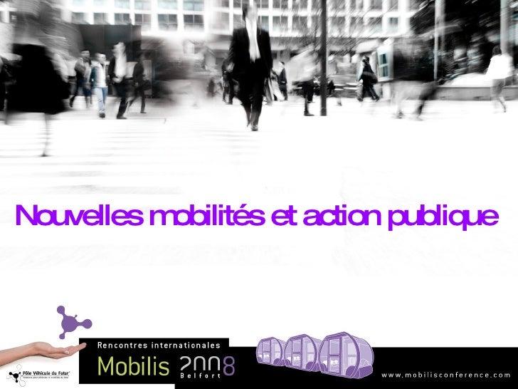 Nouvelles mobilités et action publique
