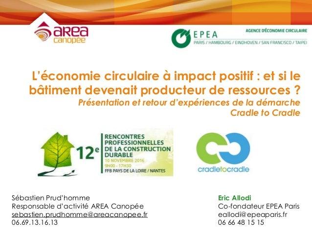 L'économie circulaire à impact positif : et si le bâtiment devenait producteur de ressources ? Présentation et retour d'ex...