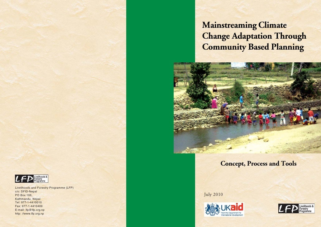 Mainstreaming Climate                                            Change Adaptation Through                                ...