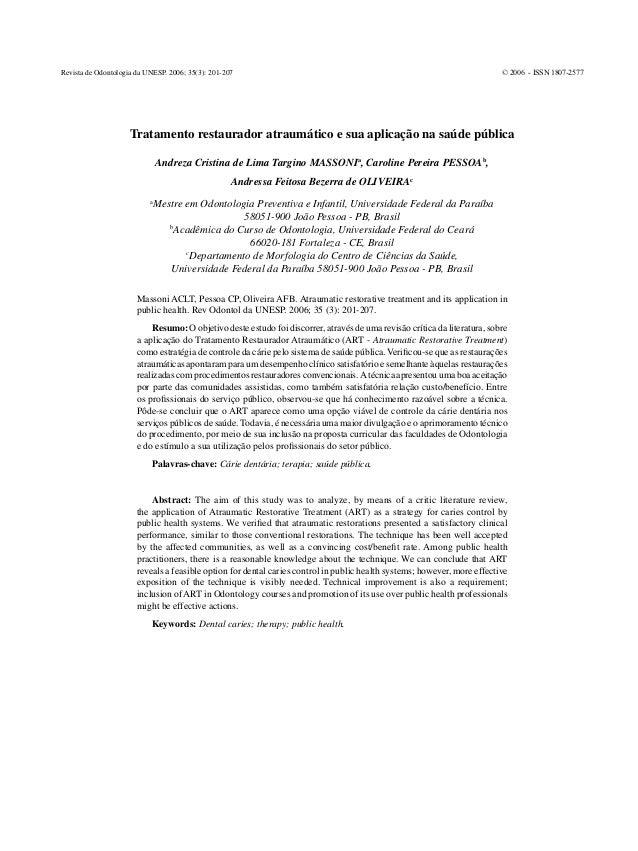 Revista de Odontologia da UNESP. 2006; 35(3): 201-207                                                                     ...