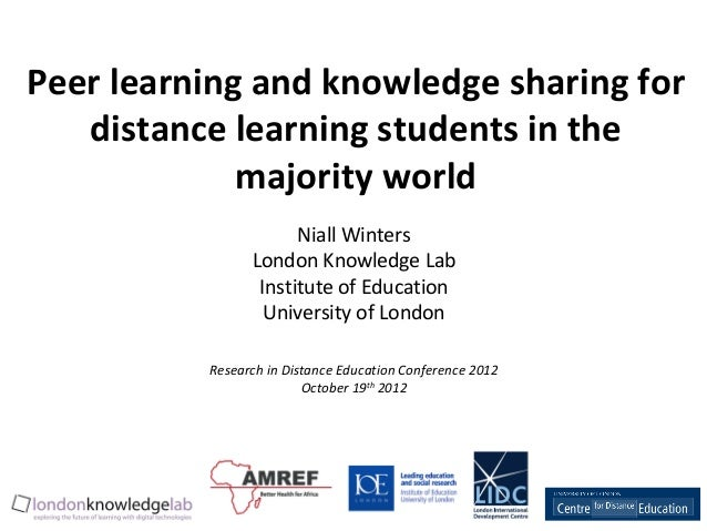 Peer learning and knowledge sharing for   distance learning students in the             majority world                    ...
