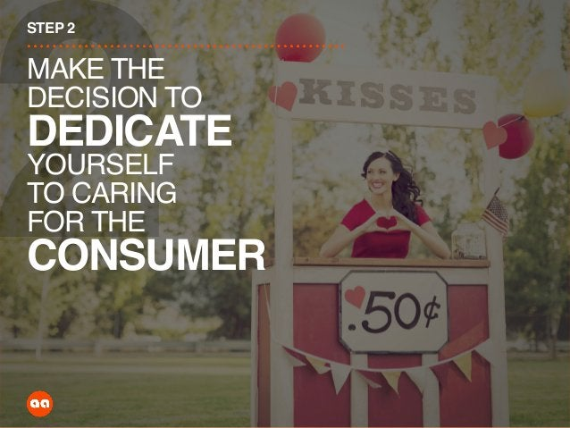 2 STEP 2 MAKE THE DECISION TO DEDICATE YOURSELF TO CARING FOR THE CONSUMER