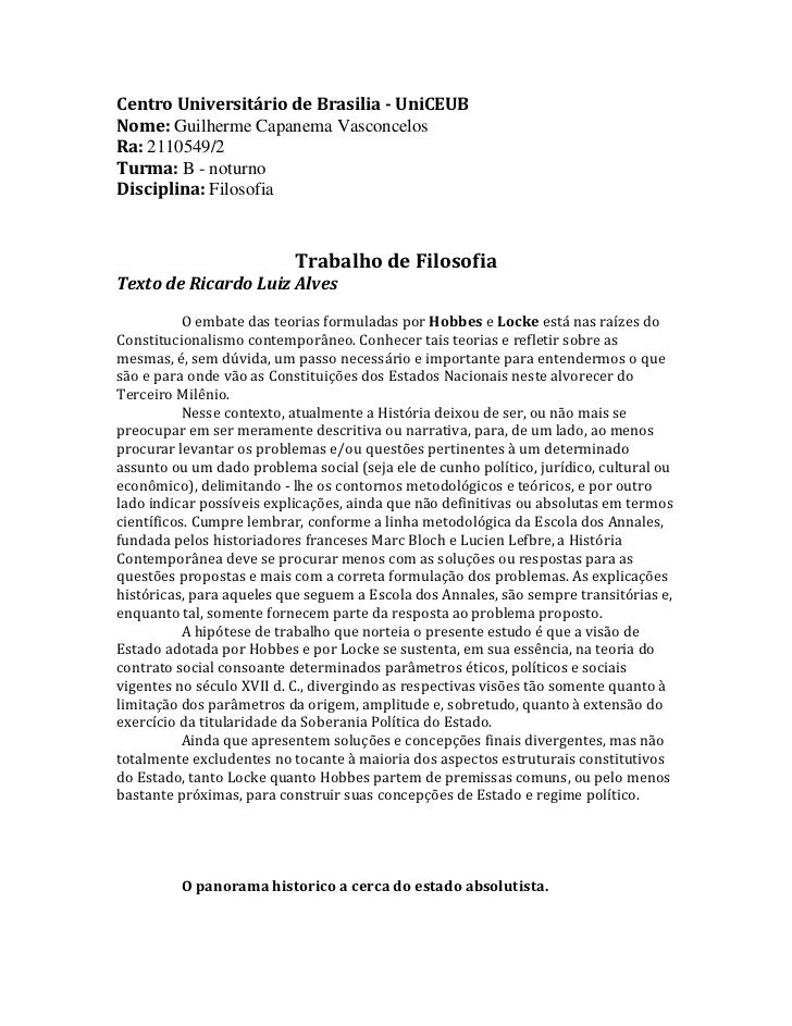 Centro Universitário de Brasilia - UniCEUBNome: Guilherme Capanema VasconcelosRa: 2110549/2Turma: B - noturnoDisciplina: F...
