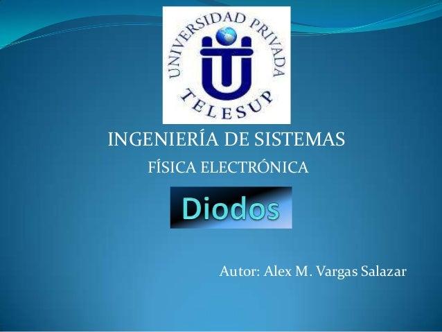 FÍSICA ELECTRÓNICA Autor: Alex M. Vargas Salazar INGENIERÍA DE SISTEMAS