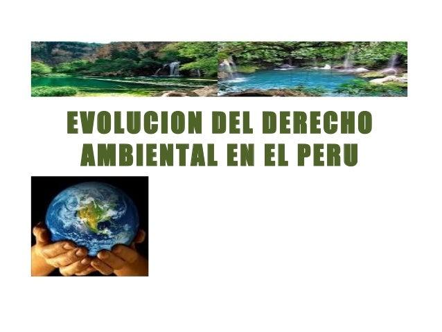 EVOLUCION DEL DERECHO AMBIENTAL EN EL PERU