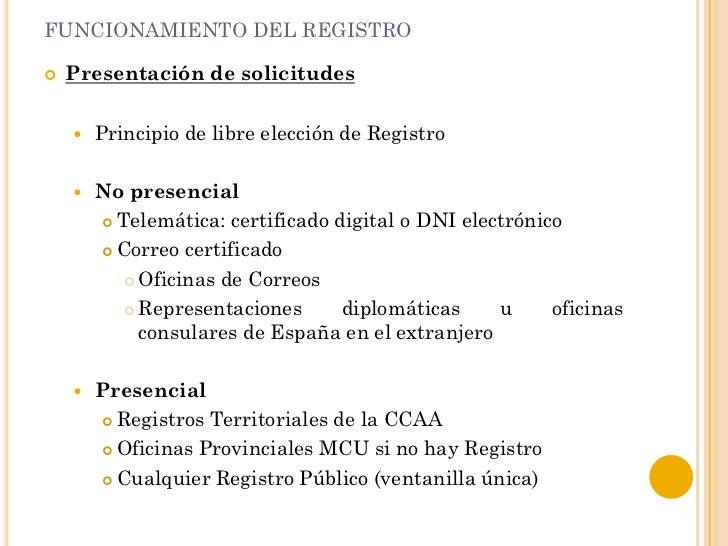 Alejandro puerto conceptos b sicos del registro de la for Oficina de registro madrid