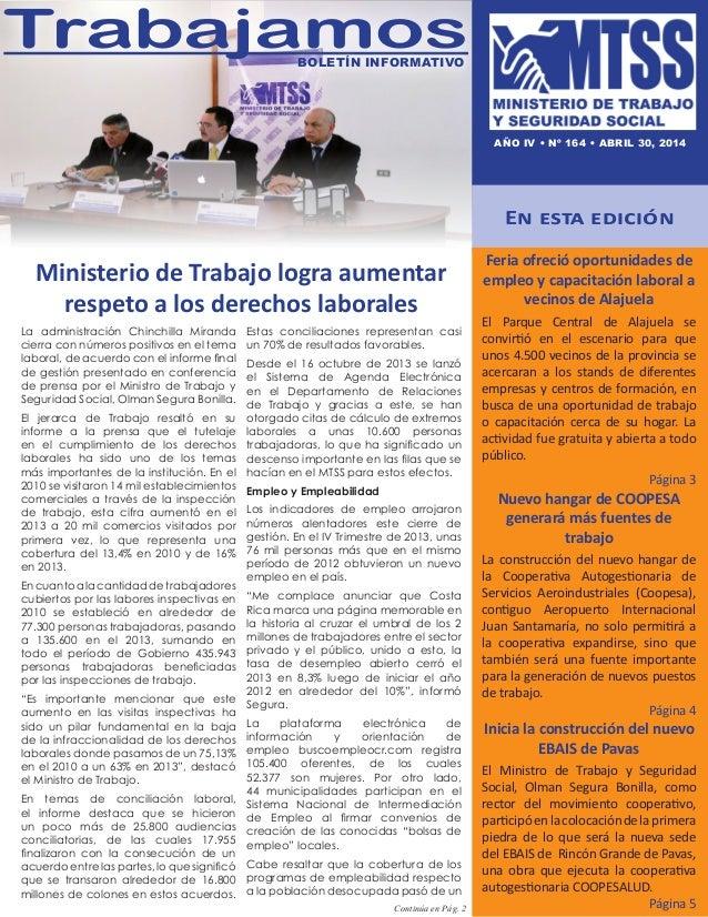 Ministerio de Trabajo logra aumentar respeto a los derechos laborales En esta edición Feria ofreció oportunidades de emple...