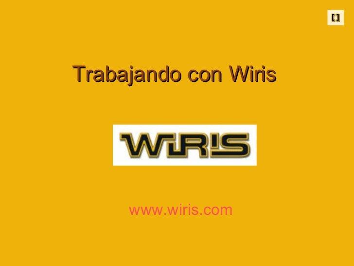Trabajando con Wiris www.wiris.com