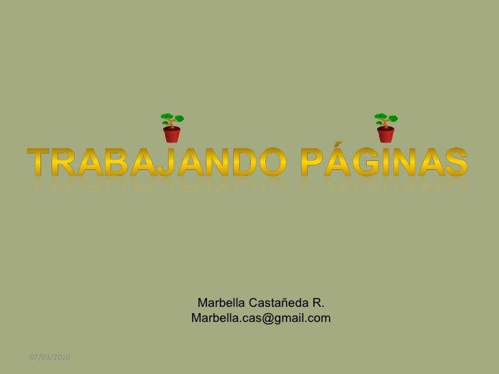 Marbella Castañeda R. [email_address] 07/03/2010