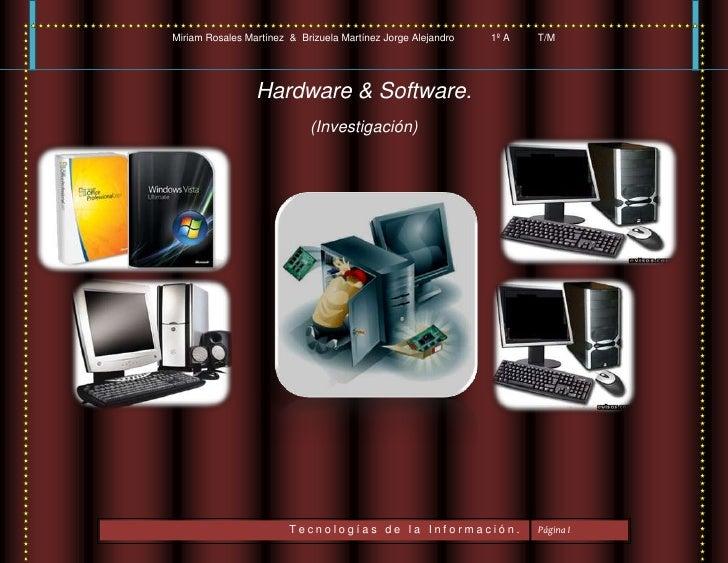 Hardware & Software.<br />5939155236855-480695332105(Investigación)<br />58439051301116241301309370            <br />Índic...