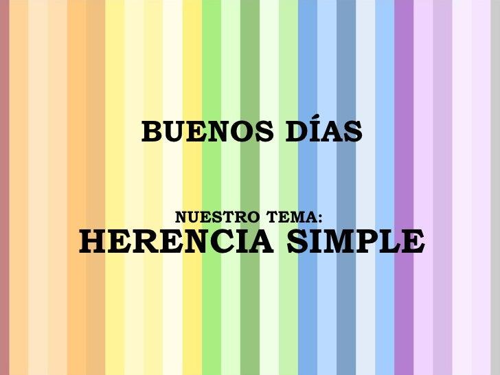 HERENCIA SIMPLE(beta)