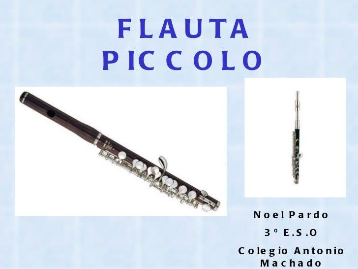 FLAUTA PICCOLO Noel Pardo 3º E.S.O Colegio Antonio Machado