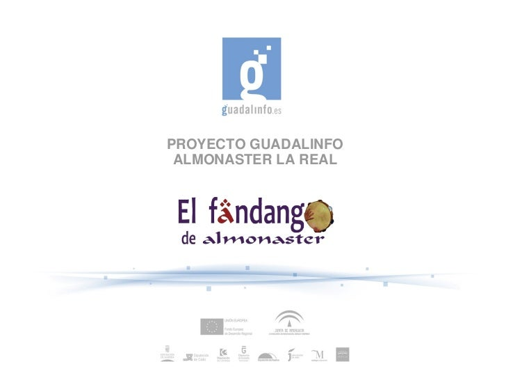 PROYECTO GUADALINFO ALMONASTER LA REAL