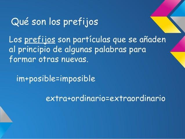 Q Son Los Lemures Los prefijos