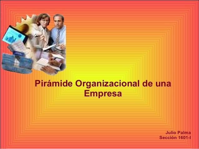 Pirámide Organizacional de una  Empresa  Julio Palma  Sección 1601-I