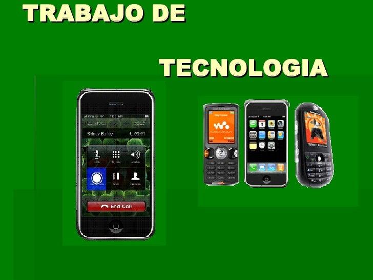 TRABAJO DE  TECNOLOGIA