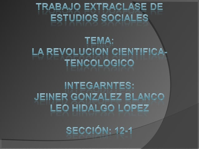 • Se ha caracterizado por la producción de sintéticos, electrónica y automatización. Debido a esta revolución en la actual...
