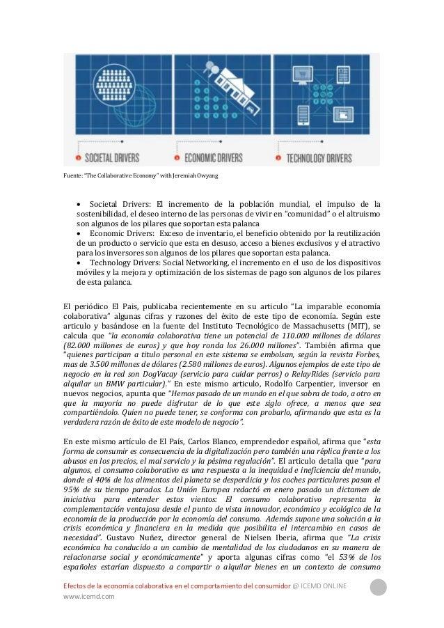 """Efectos de la economía colaborativa en el comportamiento del consumidor @ ICEMD ONLINE www.icemd.com 11 colaborativo"""". En ..."""