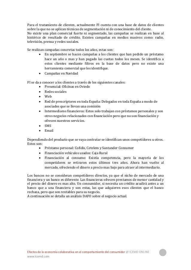 Efectos de la economía colaborativa en el comportamiento del consumidor @ ICEMD ONLINE www.icemd.com 24 DAFO Situación act...
