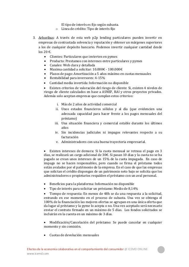 Efectos de la economía colaborativa en el comportamiento del consumidor @ ICEMD ONLINE www.icemd.com 28 4. Lendico: Plataf...